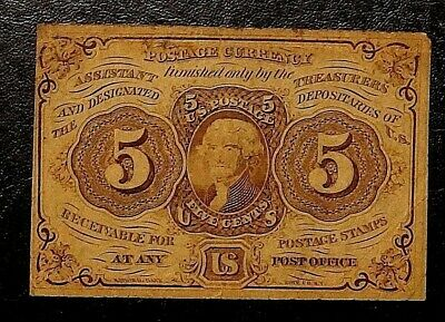 5 Cents First Issue Fractional currency 1862 UNITED STATES (606)