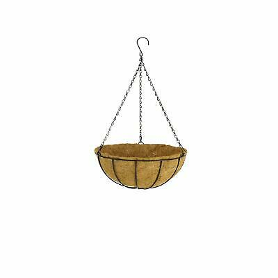 Balcony Hanging Flower Basket Planter with Cocopeat Liners Metal Iron Chain 1pc