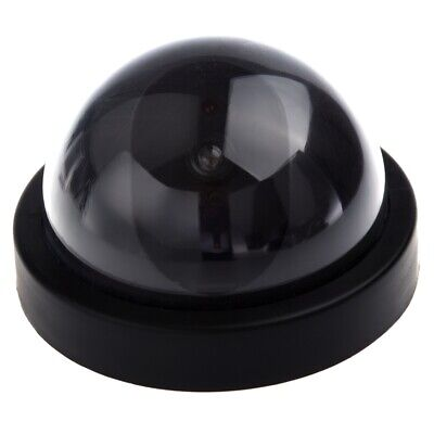 Dummy Security Camera with Dome Shape and 1 Red Flashing Light Y6C5