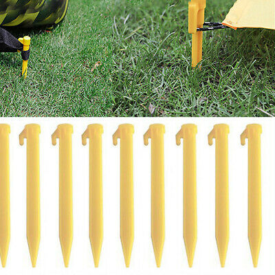 10x Plastic Pegs for Lawn Garden Ground Cloth