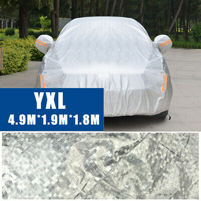 Large Double Thick Waterproof Car Cover Rain Resistant UV Dust Protection Bag
