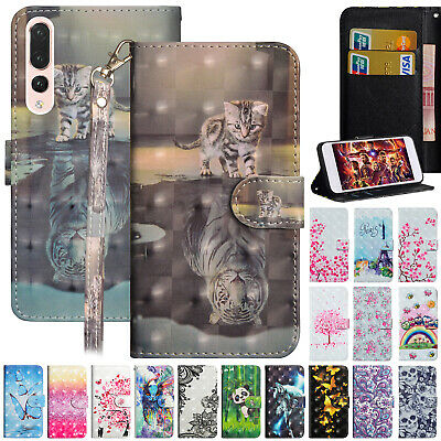 For Huawei P Smart 2018/2019 Case Magnetic Leather Card Holder Stand Phone Cover