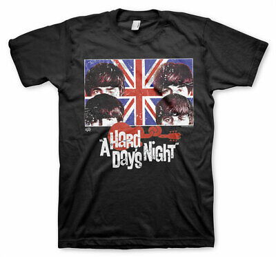 Officially Licensed The Beatles - A Hard Days Night Men's T-Shirt s-XXL (Black)
