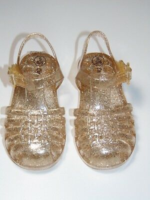 1d92fbf96c158f Toddler Girls  Cappi GlItter Gold Jelly Sandals - Cat   Jack™ Size Small 5