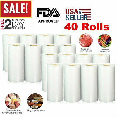 40PCS Food 8x50 Bag Vacuum Sealer Magic Seal Food Storage Great $$ Saver lot