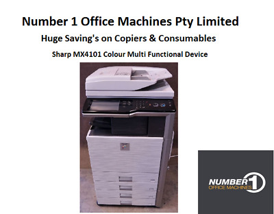Sharp MX4101 Colour Copy, Network Print, Scan to email, Fax, Duplex, Single Pass