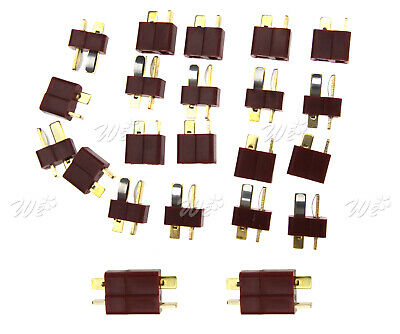 10 x Brass Deans Ultra T Plugs Connector Male & Female For RC Lipo Battery