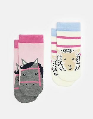 Joules Baby 204085 Character Socks Two Pack in HORSE