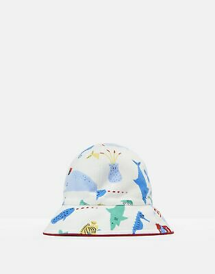 Joules 204708 Reversible Sun Hat in Cream SEA TIME