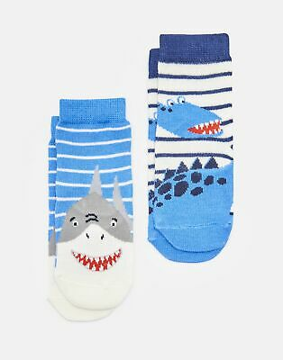 Joules Baby 204087 Character Socks in SHARK AND DINOSAUR