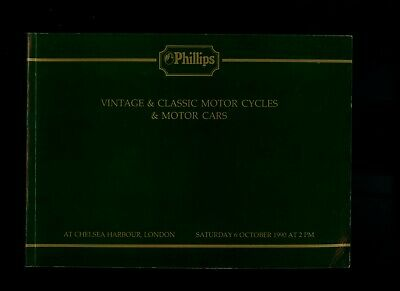 Phillips Classic Car Auction Catalogue - London 6/10/90