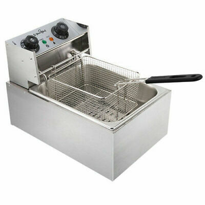 5 Star Chef Commercial Electric Deep Fryer Frying Basket Chip Cooker Fry