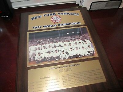 1927 New York Yankees World Series Champions Wall Plaque - Excellent