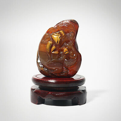 Fine Chinese Agate Jade Unique Hand-Carved Lucky Brave Troops Room Decor