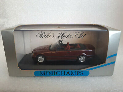 BMW 3-series Cabriolet E36 1992 red 1/43 Minichamps 430 023332