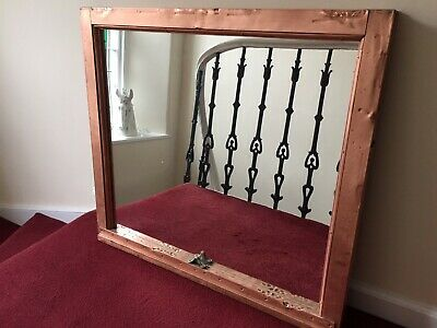 Fabulous Antique Copper Window Frame Mirror From McAlpin House, New York City
