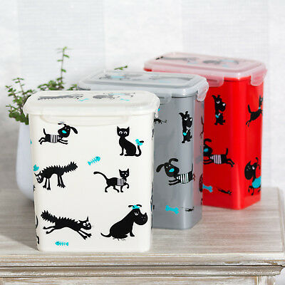 2.5 Litre Plastic Pet Food Storage Container Dog Cat Puppy Treats Biscuit Holder