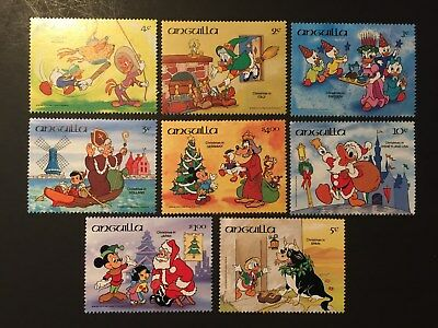 Anguilla 1984 Disney Mickey Mouse Donald Duck Stamps MNH