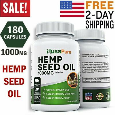 Hemp Oil Capsules 1000mg CDB Pain Anxiety Stress Relief Sleep Aid Joint Support
