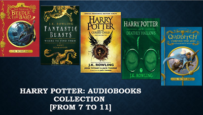 Harry Potter complete Audiobook collection Pt2 (7 to 11) [MP3 Downlooad (No CD)]
