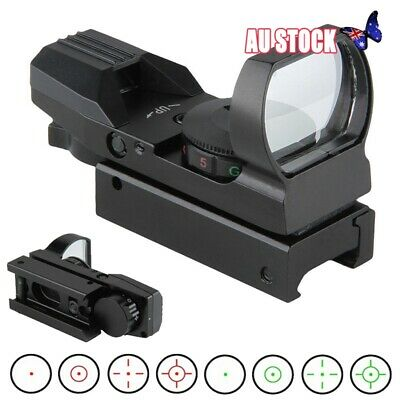 20mm Holographic Rail Red Green Dot Sight Reflex Scope 4 Reticle Rifle Mount Hot