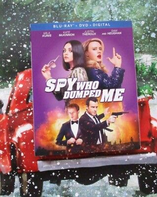 NEW Sealed The Spy Who Dumped Me Blu Ray DVD Digital HD Slipcover Mila Kunis