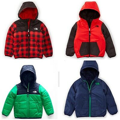 8940595eb THE NORTH FACE Toddler Boys Reversible Perrito Jacket Red Check / Pri Green  $80