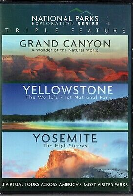 National Parks Triple Feature - Grand Canyon / Yellowstone / Yosemite (DVD ) NEW