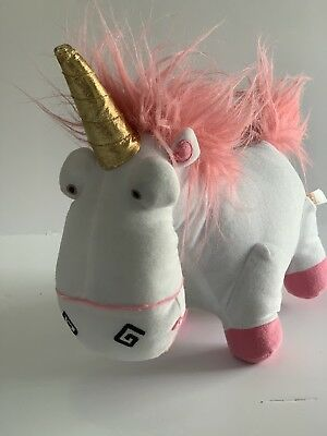 """Despicable Me Minion Made Fluffy Unicorn Universal Plush Toy Factory 11"""" Long"""