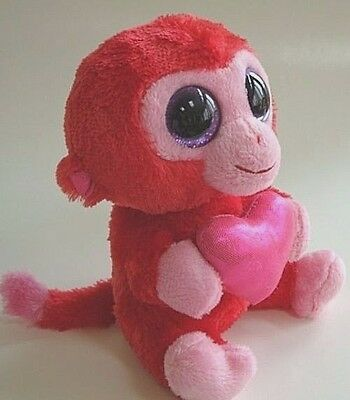 41ee7945b01 Ty Beanie Boo Boos Charming the Red Monkey with heart 6