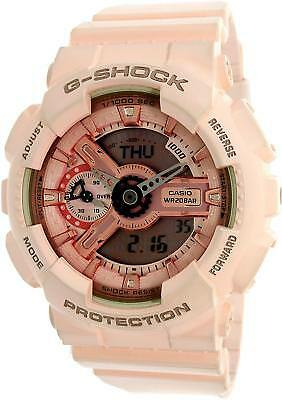 Casio G-Shock Gold and Pink Dial Pink Resin Quartz Ladies Watch  GMAS110MP-4A1 746a0b5326