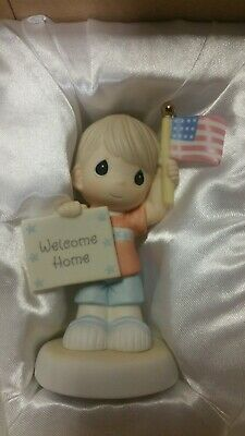 "Precious Moments 740019 ""Welcome Home My Hero"" New 2007 Boy"