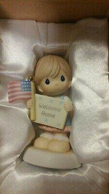 "Precious Moments 740020 ""Welcome Home My Hero"" New 2007 Girl"