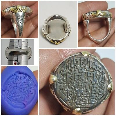 Islamic amyzing  jusper stone seal  inscription  pure silver ring