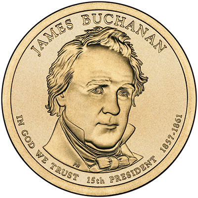ESTADOS UNIDOS AMERICA USA 1$ DOLAR PRESIDENTIAL 2010 JAMES BUCHANAN P y D