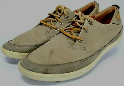 14a3dc7a56 ECCO COLLIN NAUTICAL $135 Men's Oxford Sneakers Size EU 43 US 9-9.5 Beige
