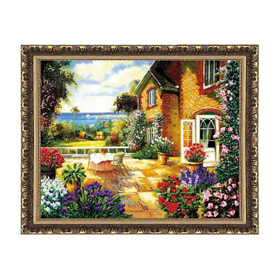 Ribbon Embroidery Kits Summer Flower Needlework Cross Stitch Kit Home Decor