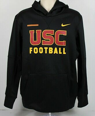 18dbcfb84 NIKE USC TROJANS FOOTBALL Men's Medium Pullover Hoodie Black Cardinal Gold  LN
