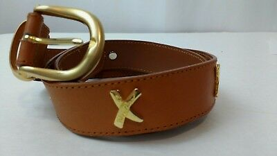 b40202371212e VINTAGE PALOMA PICASSO Brown Leather Belt 26-29