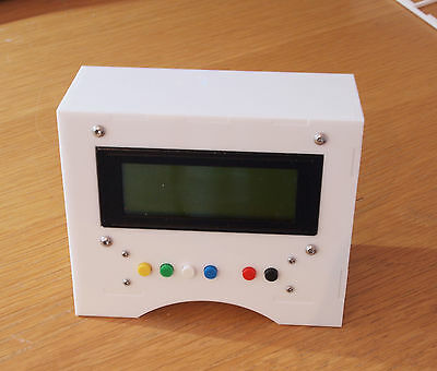 20x4 LCD enclosure / project case for Arduino UNO / Mega Including six buttons