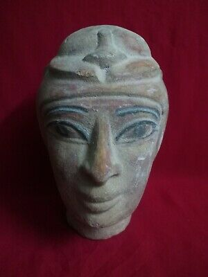 Ancient Egyptian Antiquities rare Head of Isis  ( 323–30 BC)