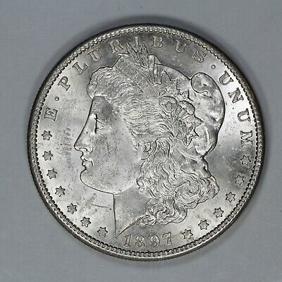 1897 S Morgan Silver Dollar $1 Choice Bu Brilliant Uncirculated (7939)