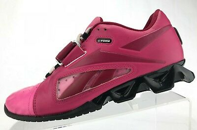 c7cbeb20be5 Reebok CrossFit Lifter Shoes Pink U-Form Weightlifting Sneakers Womens Size  8.5