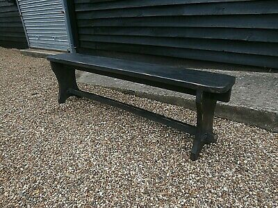 CHARACTERFUL EARLY 20th CENTURY PINE ASH SCHOOL BENCH PEW ANTIQUE WE CAN DELIVER