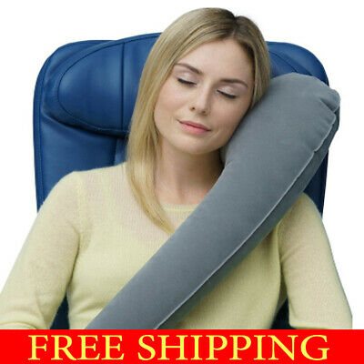 The New Ultimate Inflatable Travel Pillow/Neck Pillow - Ergonomic rolls up small