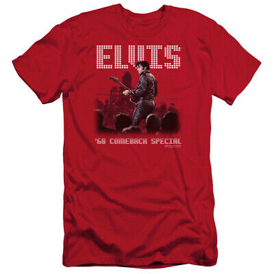 5319677bb Elvis Presley Slim Fit T-Shirt 68 Comeback Special Red Tee