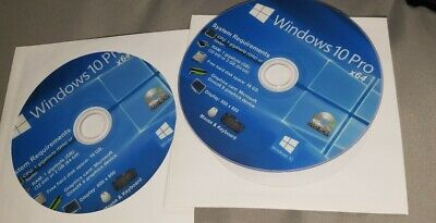 Windows 10 Pro Home Education 64 or 32 bit on DVD OS only no product key