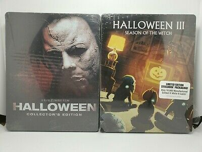 Halloween (2018) 4K+Blu-ray+Digital & II & III & 2007 (Rob Zombie) 4x STEELBOOKS