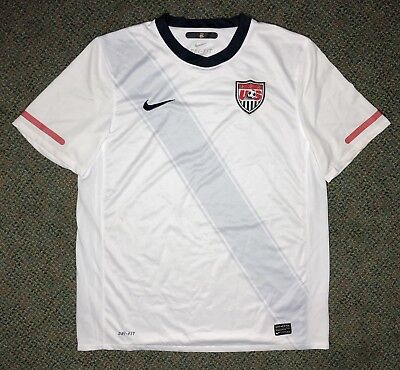 5993f0dee15 Nike Authentic Men L USA Soccer National Team 2010 White Athletic Dri-Fit  Jersey