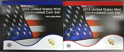 2013 P+D U.S. Mint Set of 28 !! US Coins Uncirculated in Original Mint Pack
